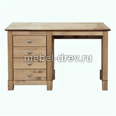 Стол письменный Рауна-04 с 1 тумбой бейц