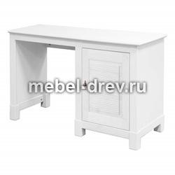 Стол письменный Рауна-10 с 1 тумбой белый воск