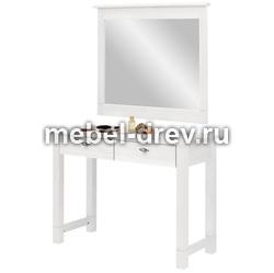 Туалетный столик с зеркалом Рауна белый воск