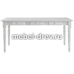Стол обеденный Мерида-140 со вставкой белый воск