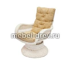 Кресло-качалка Andrea relax medium белый ротанг