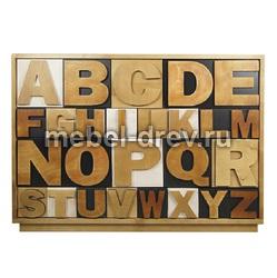 Комод широкий Alphabeto (Альфабето)AL-01/2ETG/2