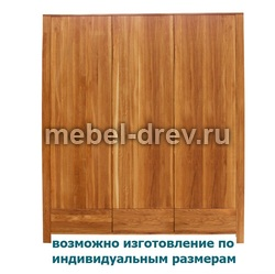 Шкаф 3-х дверный Сиэтл 3PVV WoodMos