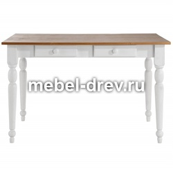 Стол обеденный Мерида-120 белый воск