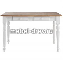 Стол обеденный Ноа-120 белый воск и мед