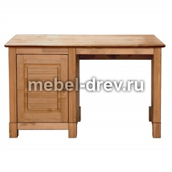 Стол письменный Рауна-10 с 1 тумбой бейц