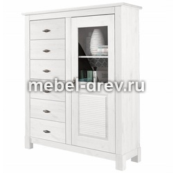 Комод Рауна-16 белый воск