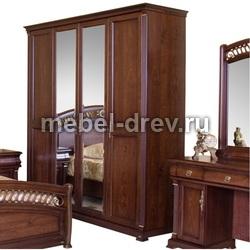 Шкаф 4-дверный Нотти 9901 с 2 зеркалами