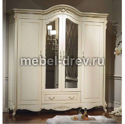 Шкаф 4-х дверный Милано 8803 с зеркалом
