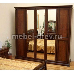 Шкаф 5-дверный Нотти 9901 с 3 зеркалами