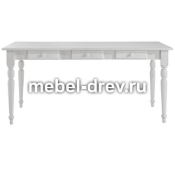 Стол обеденный Мерида-140 белый воск