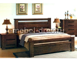Кровать Роберта 3955-WSR-BW