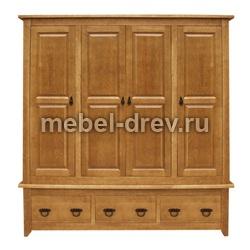 Шкаф 4-х дверный Юта PVVP WoodMos