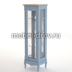 Шкаф-витрина Leontina blue (Леонтина блю) ST9319R/B