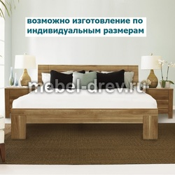 Кровать двуспальная без изножья Юта 180 WoodMos