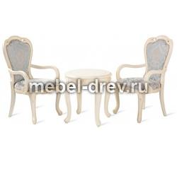 Комплект Столик чайный Милано 8801 круглый и 2 кресла 528